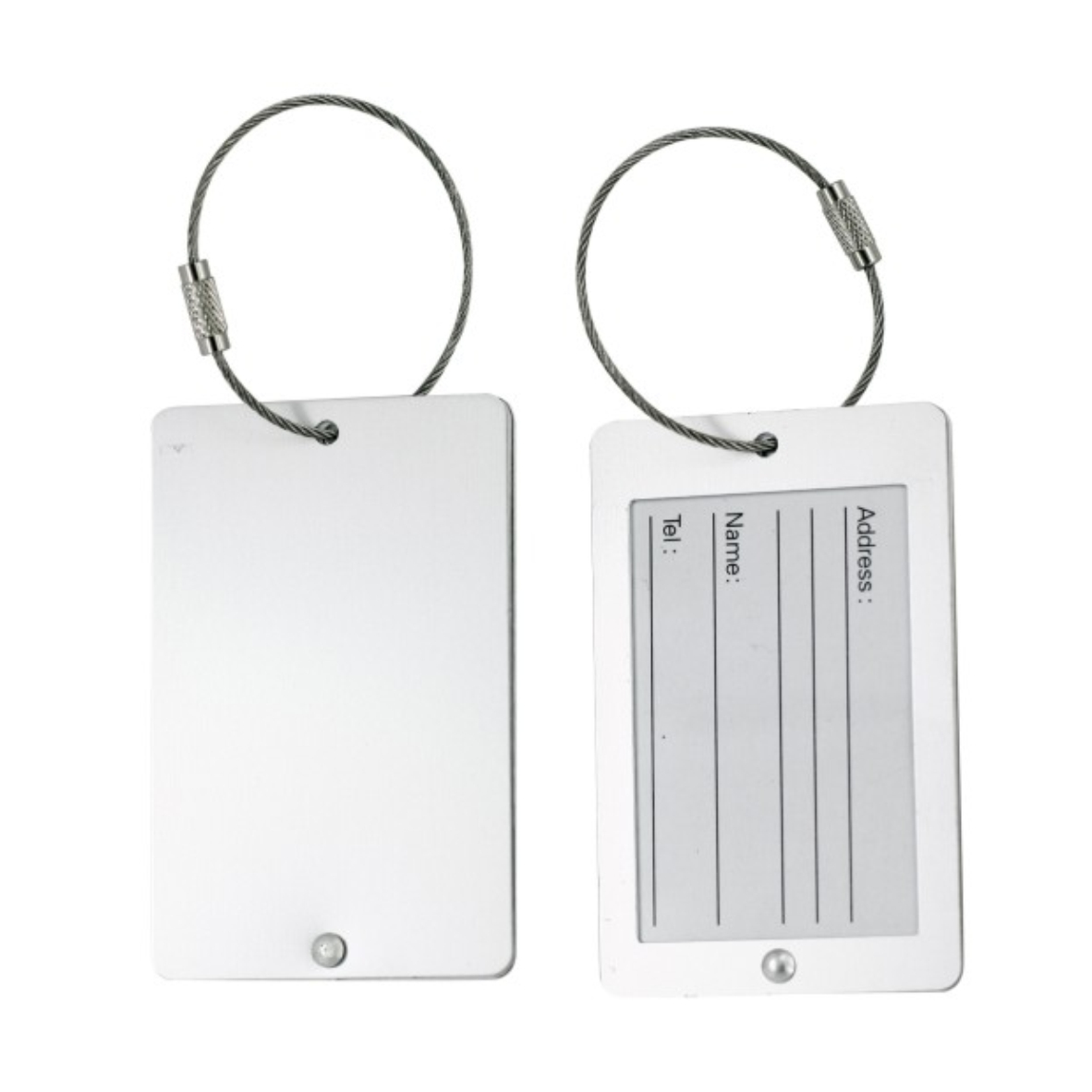 UK053 Luggage Tag with wire cable